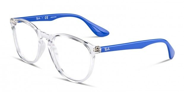 August 2017. Ray Ban 7046. Can you rock these? YES YOU CAN! These frames feature a clear crystal front with bright lapis blue sides, these are so hot right now.