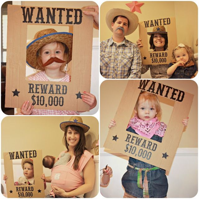 homemade by jill: Lilly's Cowgirl Party - Fun Photo Booth idea!