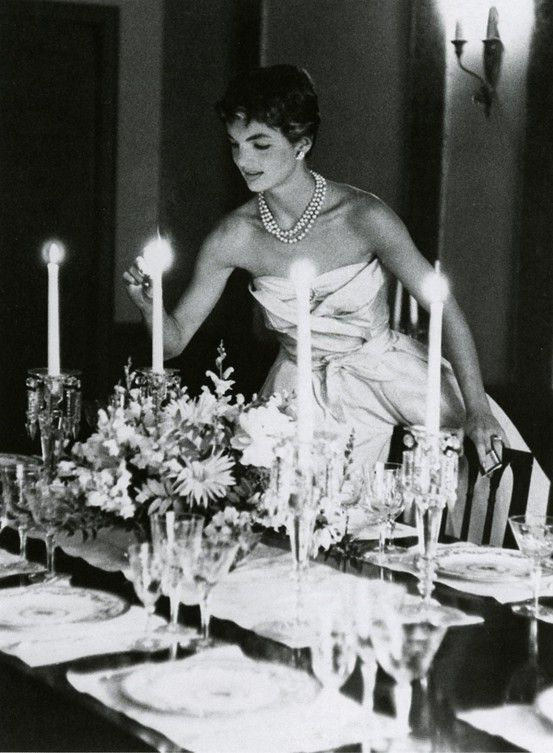 Jackie. by candlelight.