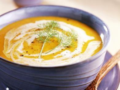 Romige wortel-venkelsoep - gemaakt in mei 2016 heerlijke soep! Aanrader om nog eens te maken. Maar 1 venkelknol nodig