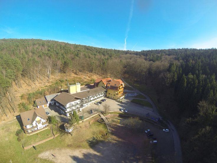 Waldhotel Heppe , Dammbach von oben