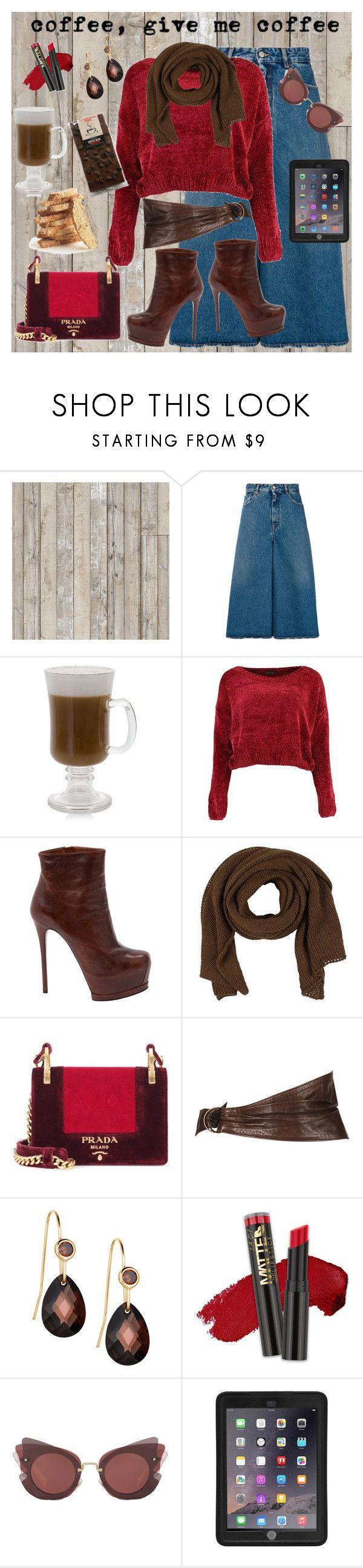 """Coffee Date"" by dobesht ❤ liked on Polyvore featuring NLXL, MM6 Maison Margiela, Boohoo, Gianmarco Lorenzi, ISABEL BENENATO, Prada, Alaïa, L.A. Girl, Miu Miu and Griffin"