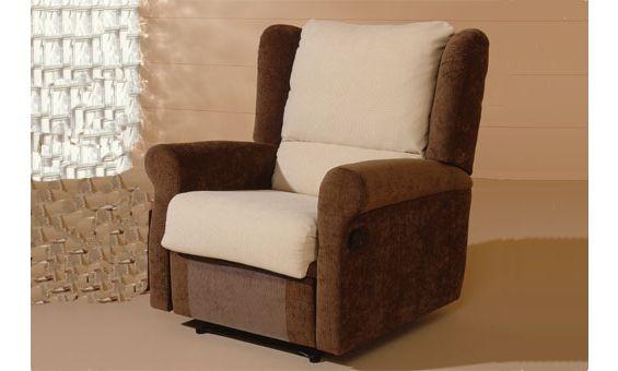 Sill n relax tapizado en tela sillones pinterest for Sillones baratos nuevos