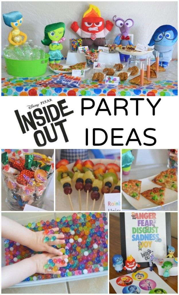 Disney PIXAR Inside Out Party Ideas! This is the latest craze at my house. There will be a few Inside Out birthday parties planned soon..fantastic party ideas!