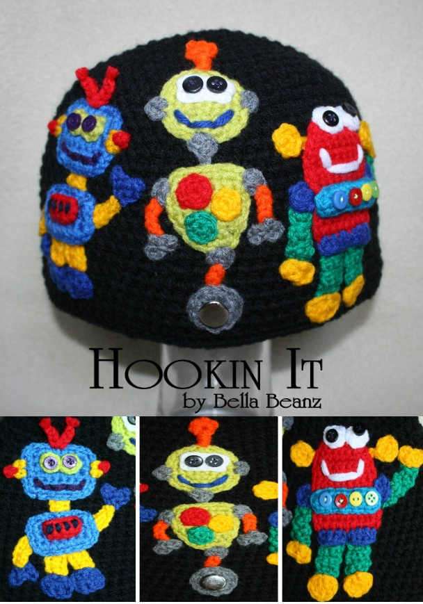 Robots Hat Hookin Products Crochet