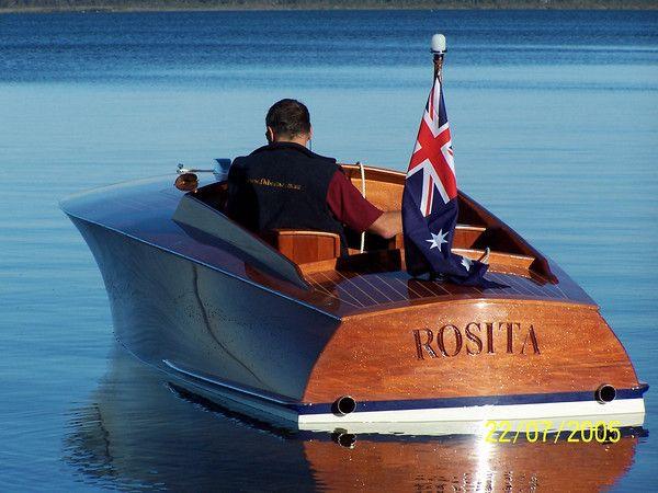 """Rosita"" is a replica of 1924 John Hacker gentlemans racer rebuilt by Frecheville Heaney boat ..."