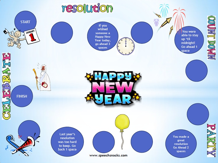 """New Year Resolution Race!"" Includes FREE gameboard, game cards and a recipe card for ""Cowboy Caviar""   Happy New Year :)"