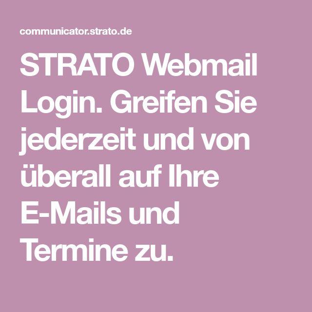 STRATO Webmail Login. Greifen Sie jederzeit und von