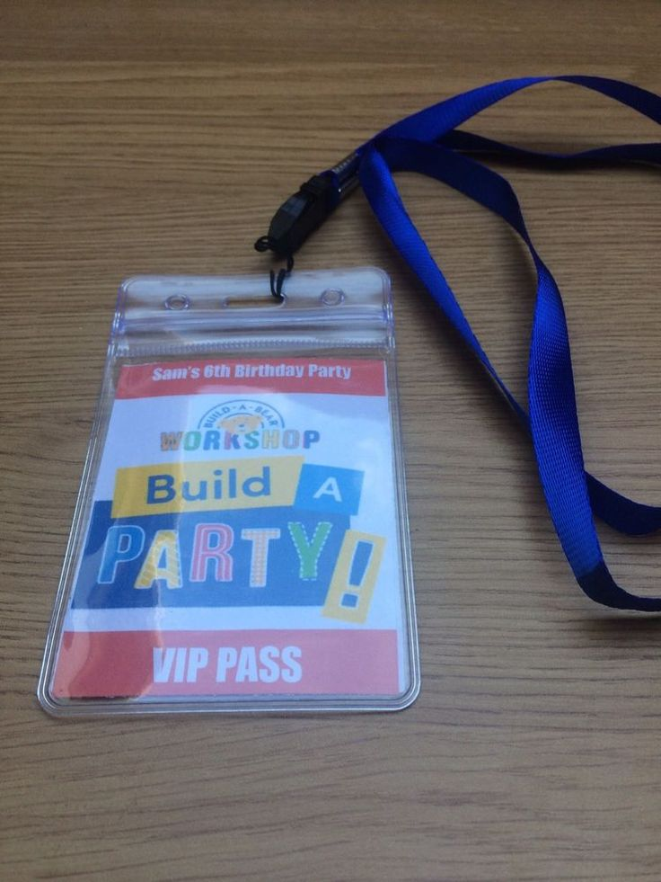 BUILD A BEAR BIRTHDAY PARTY INVITATION LANYARD in Home, Furniture & DIY, Celebrations & Occasions, Cards & Stationery | eBay!
