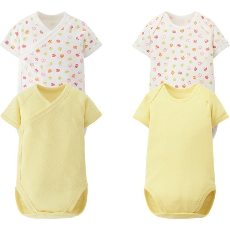 新生兒圓領包臀衣 (短袖)2件(蘋果)