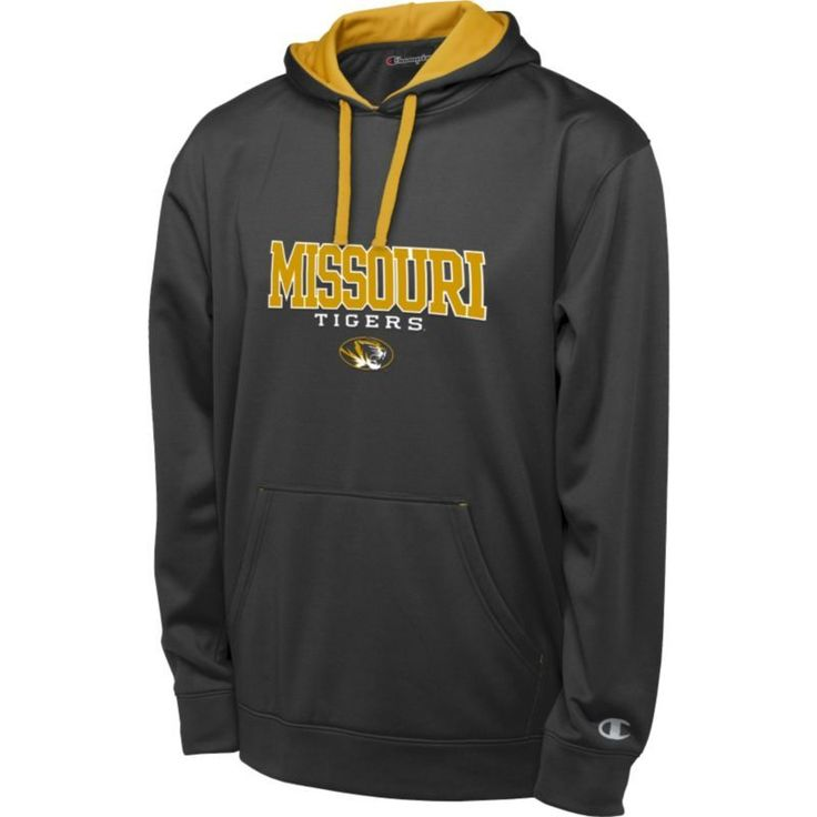 Champion Men's Missouri Tigers Black T-Formation Performance Hoodie, Size: Medium, Team