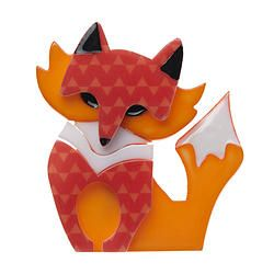 Fleur the Foxy Flame Brooch