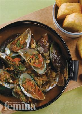 Femina.co.id: Spicy Mussel Soup (Italia Selatan) #resep