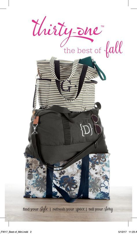 Thirty One Gifts Fall/Winter 2017 BEST OF FALL Mini Catalogue