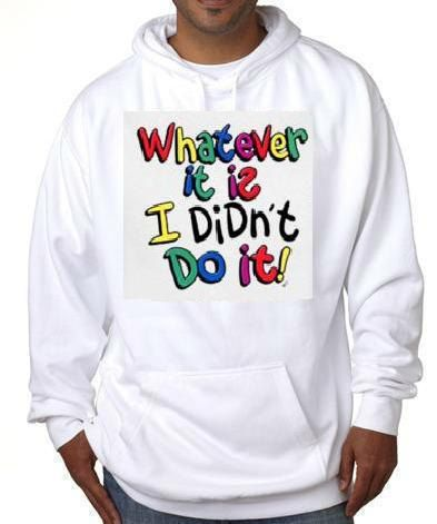 what ever it is i didnt do it hoodie sweater shirt by tshirtsdepo, $34.99