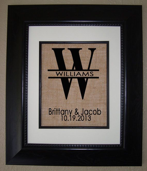 Personalized Monogram BURLAP Print  Great Wedding by BellaTara, $19.50