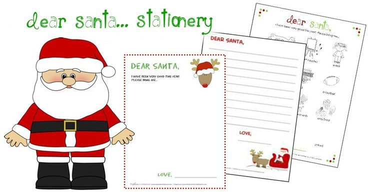 Dear Santa Stationery Printables Makeovers Motherhood Santa Writing Printables Dear Santa