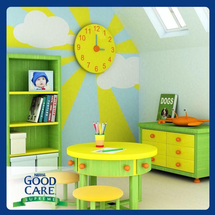 M s de 25 ideas incre bles sobre paredes de tono amarillo for Cuartos de ninas feos