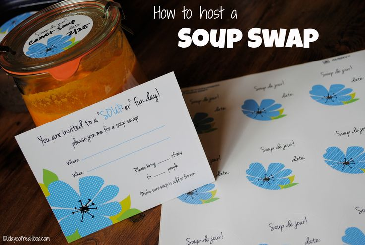 I wanna do this! How to host a soup swap on 100 Days of #RealFood