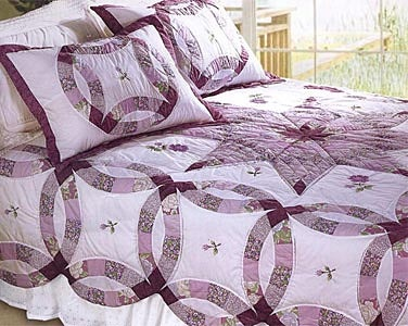 double wedding ring quilt - Google Search