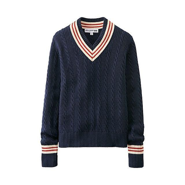 WOMEN Ines Cotton Linen Cricket Sweater-UNIQLOUKOnlinefashionstore