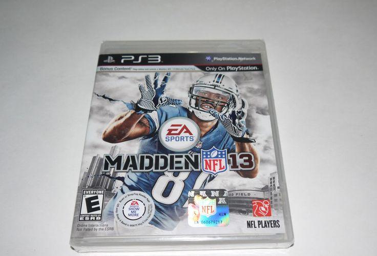 Madden NFL 13 (Sony PlayStation 3, 2012) Factory Sealed *READ FULL*