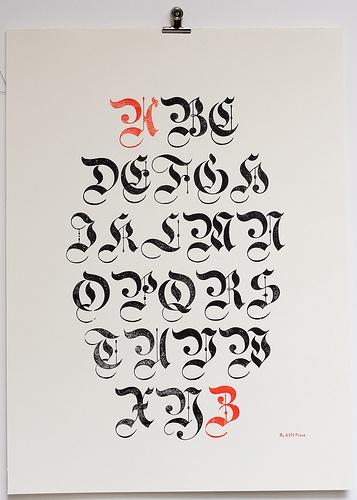 Poster specimen blackletter (by Ampersanden)