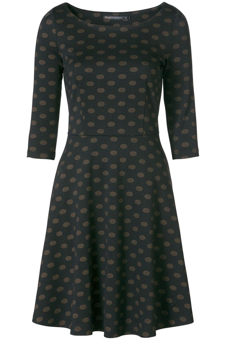 A-lijn jurk met polkadot print Zwart - Feestelijke jurken - Jurken - Collectie