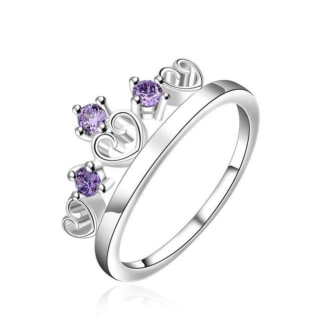 NIEUWE Arrivel 2016 VS EURO Stijl Mode verzilverd crown 3 stone blue Ring Groothandel Sieraden SMTR536