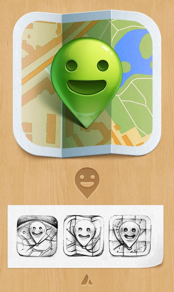 Anywherefriends icon by Ampeross , via Behance