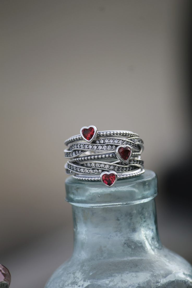 charms pandora coeur rouge