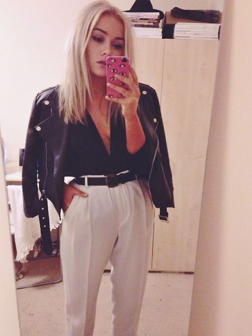 hellounderconstruction: Jacket: Missguided. Top: H&M....