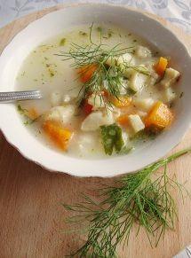 Zupa rybna z dorszem