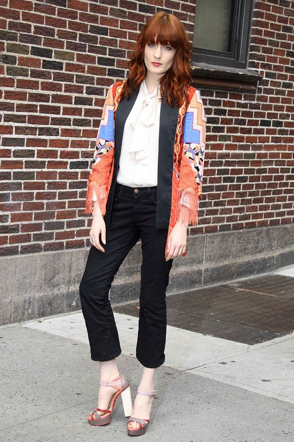 Florence Welch Fashion February 2017