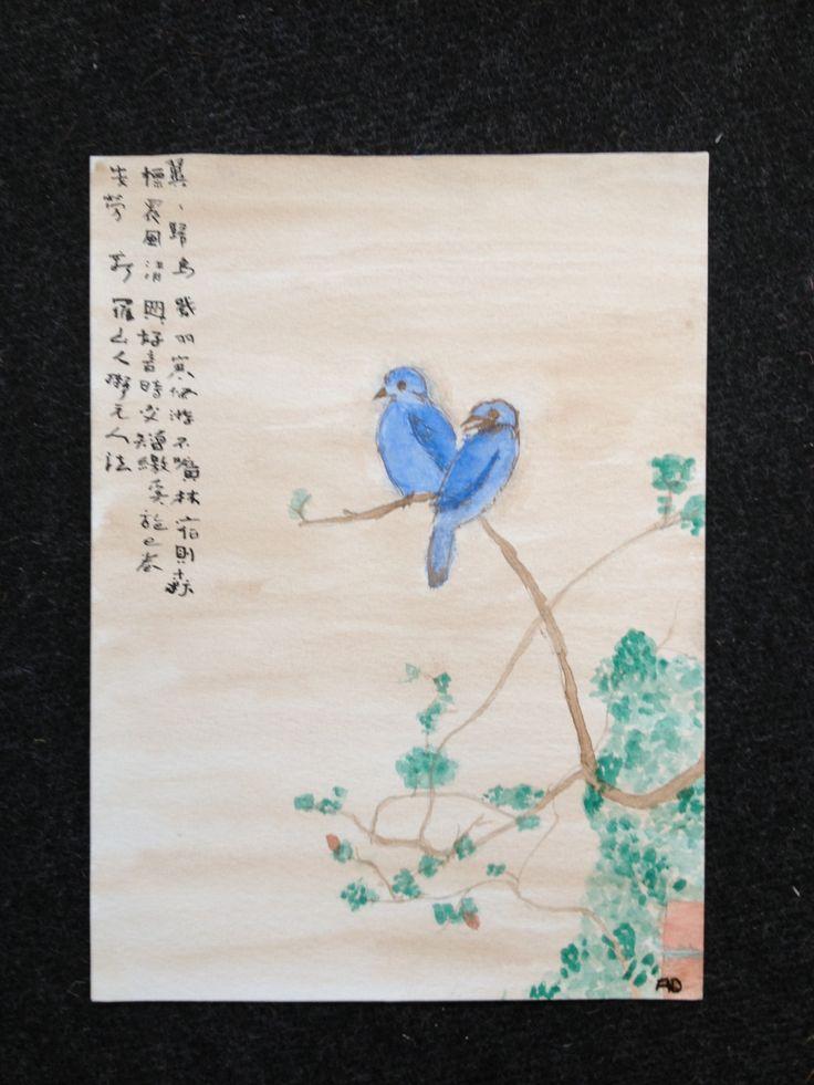 Loving birds / Les inséparables Par AD