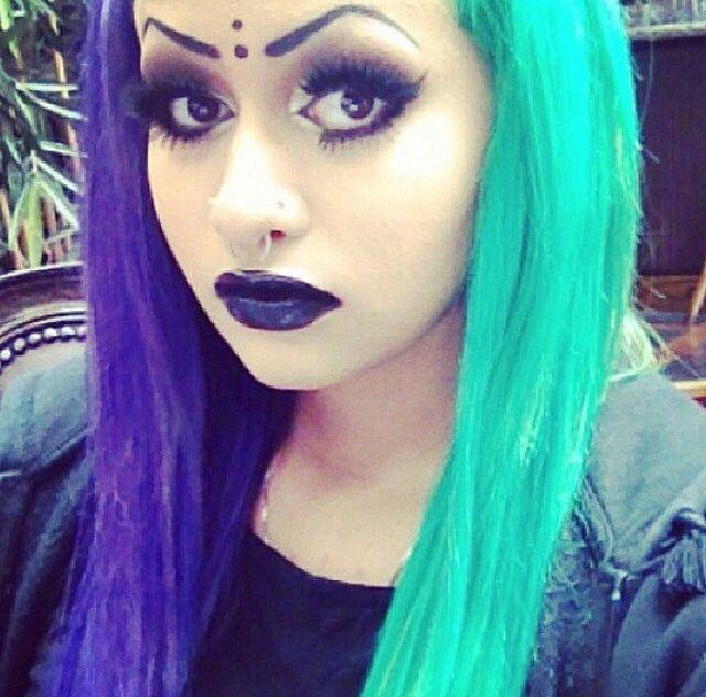 139 best half amp half hair images on pinterest colourful