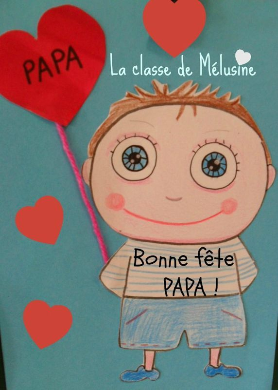 """""""Je t'offre mon coeur papa""""... et une poésie pour la fête des papas (2) - la classe de Mélusine"""