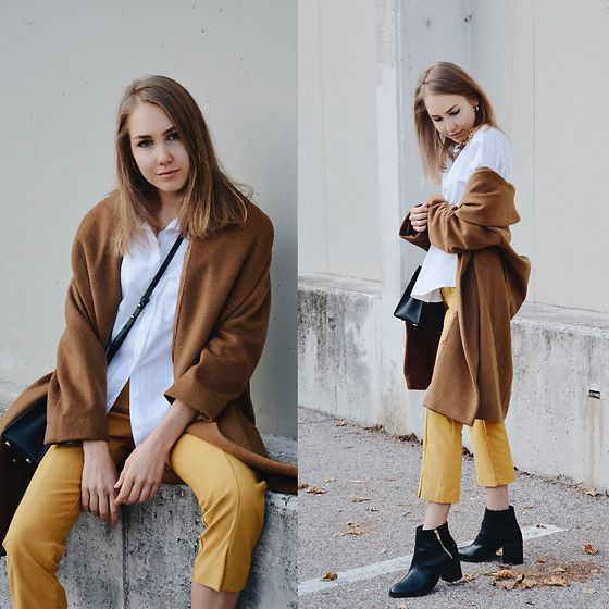 More looks by Susi Dorigoni: http://lb.nu/susidorigoni  #casual #chic #street #pants #yellow #classic #teen #girl #hm