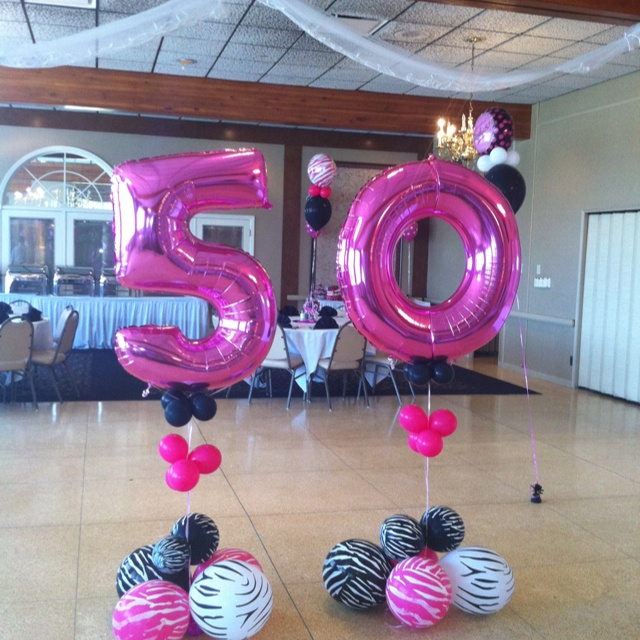 50th Birthday Party! do in blues/greens/black for him