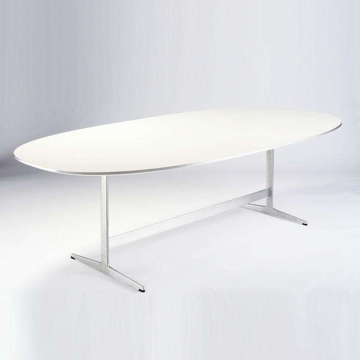 Piet Hein Super-Elliptical� Table designed by Piet Hein, Bruno Mathsson, Arne Jacobsen for Fritz Hansen