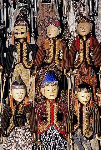 Indonesia, Java, Yogyakarta, traditional Wayang Golek puppets