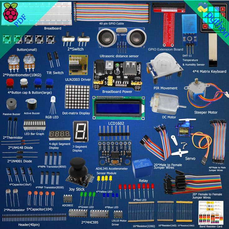 New Ultimate Starter Learning Kit for Raspberry Pi 2 Model B/B+ Python Servo  #DoesNotApply