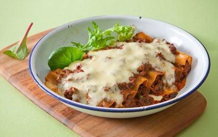 Spinach and Beef Cannelloni