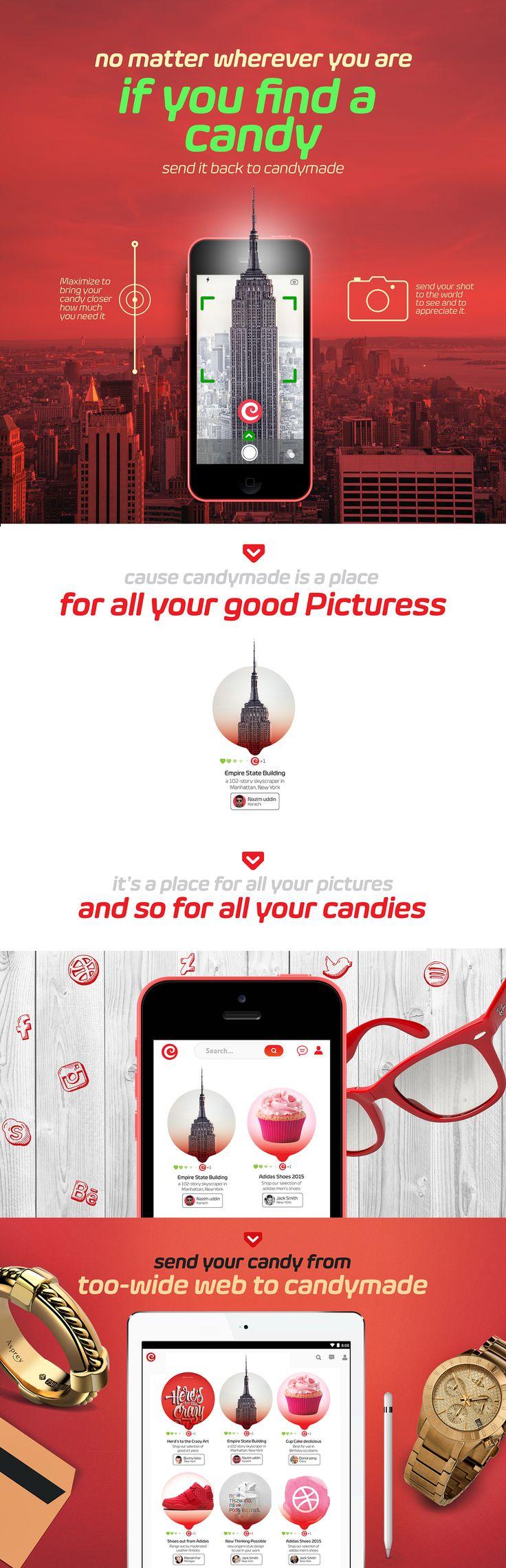 Candymade (Visual discovery tool) | UI design (Concept).