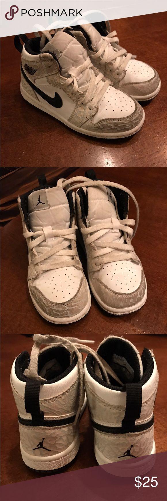 Kids Jordan Retro High Tops Toddler Air Jordan 1 Retro Hi Top Prem. Worn and few times. In good condition. Jordan Shoes Sneakers