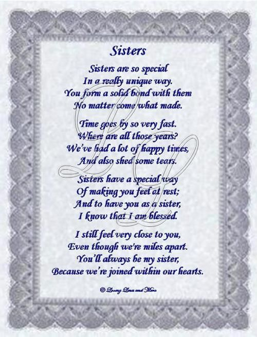 poems for sisters | Website Designed by Loving Lines and More © 2009