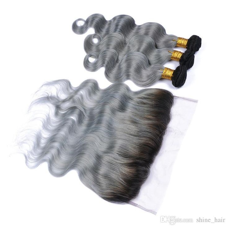 Peruvian Silver Grey Ombre Human Hair Wefts With Frontal 9A Body Wave #1B/Grey Two Tone Ombre 13×4 Lace Frontal Closure With 3Bundles Straight Human Hair Weave Human Hair Weave Styles From Shine_hair, $169.15| DHgate.Com