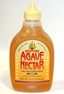 Canning with Agave in stead of sugar. Agave Nectar is also a sugar substitute and should be added like a honey. Since it is composed of real sugars (fructose and glucose), it performs well as a preservative. Its lower glycemic index helps protect against health risks associated with higher glycemic sweeteners. Agave is a 1:1 for honey, maple syrup and for each cup of white sugar replaced, use 2/3 of a cup of agave and reduce other liquids by 1/4 to 1/3 cup.