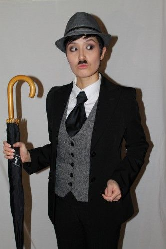 Charlie Chaplin costume idea for women