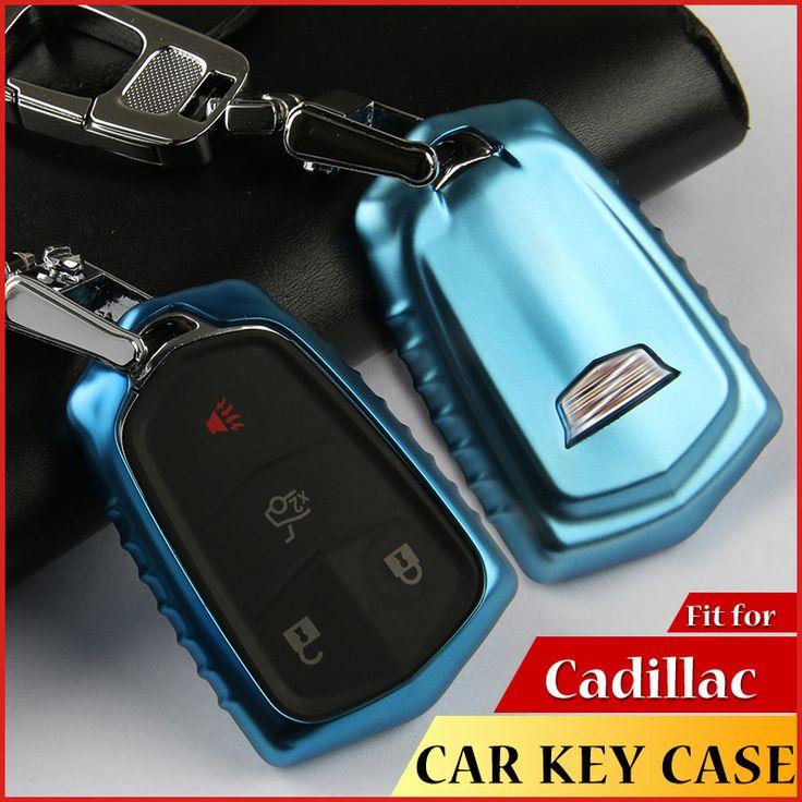 High Quality Soft TPU Car Key Cover For Cadillac CTS XTS ATS ATS-L XLS SRX Key Case Key Protective shell Car Key Bag Car Styling